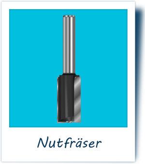 Nutfräser 8 mm Schaft